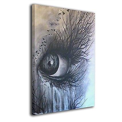 Amazon Com Elkforest Eye Art Frameless Painting Abstract