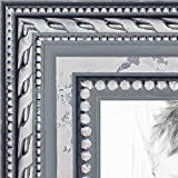 ArtToFrames 16x20 inch Ornate SIlver Wood Picture Frame, WOM80801-SLV-16x20