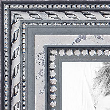 Amazon.com - ArtToFrames 13x19 inch Ornate SIlver Wood Picture Frame ...