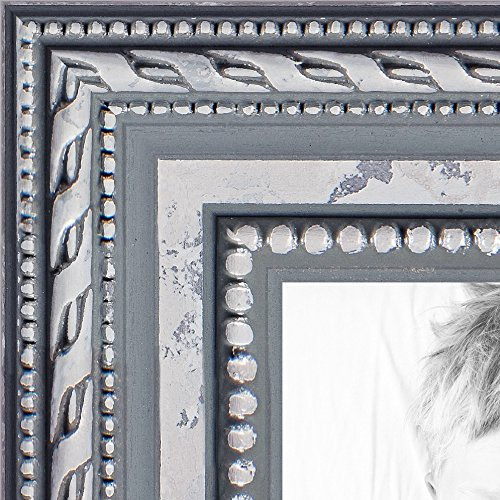 ArtToFrames 16x16 inch Ornate SIlver Wood Picture Frame, WOM80801-SLV-16x16 by ArtToFrames