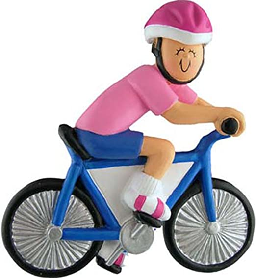 WORKOUT FITNESS BIKE RIDING RIDE MAN BOY PERSONALIZED CHRISTMAS TREE ORNAMENT