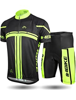 INBIKE Men s Cycling Jersey Set Short Sleeve Full Zip Moisture Wicking  Breathable Quick-Dry c04cc354c