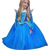 Rawdah Vestito Abito per Bambino Ragazza Bambina Principessa Natale Partito Compleanno Bambini Vestito Carnevale Bambina Abiti PrincipessaFantasia Vestite HalloweenCostume