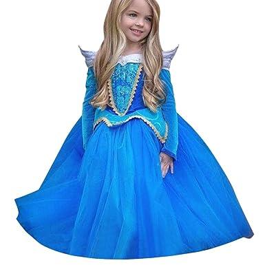 Rawdah Vestito Abito per Bambino Ragazza Bambina Principessa Natale Partito  Compleanno Bambini Vestito Carnevale Bambina Abiti Principessa Fantasia  Vestite ... 7f7b9104508
