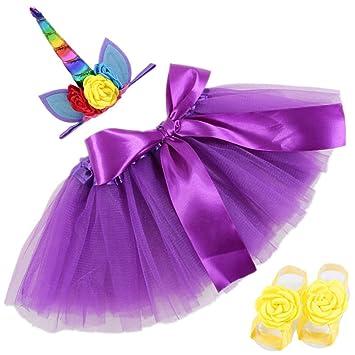 Haushele OFD Unicorn - Conjunto de falda para bebé recién nacido ...