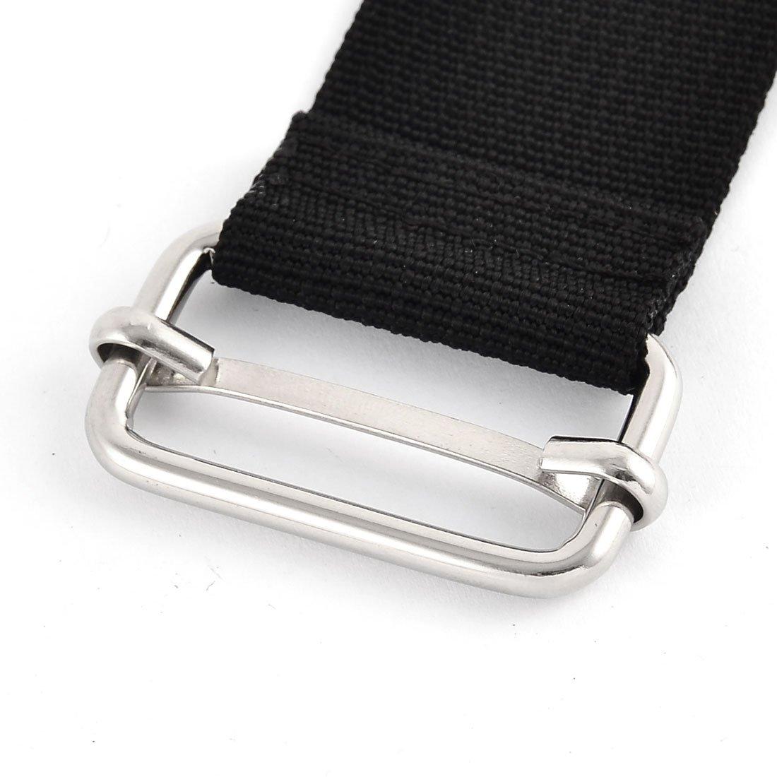 EbuyChX Naylon Home Travel Adjustable Suitcase Bagahe strap belt buckle 3.8 x 50cm Black
