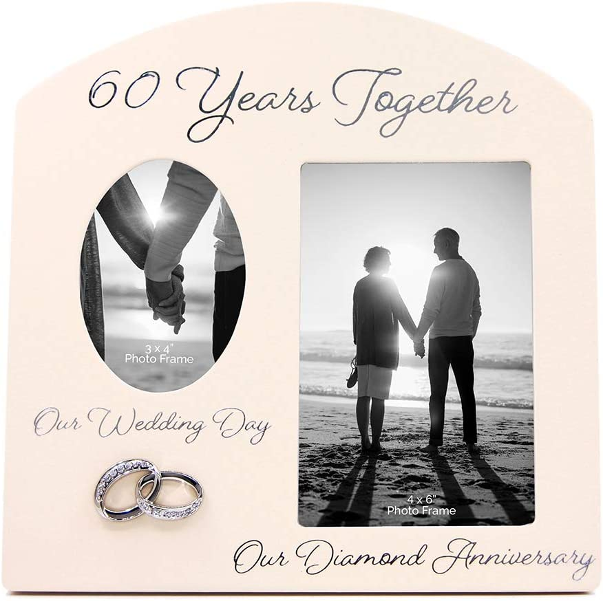 """Contemporary """"60 Years Together"""" Then and Now Diamond Anniversary Frame By Haysom Interiors"""