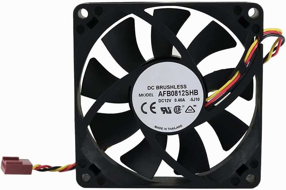 Generic 80x15mm Cooling Fan, Replace AFB0812SHB DC Brushless Cooling Fan, 80mm by 80mm by 15mm with TX3 Connector (DC12V 0.4A)
