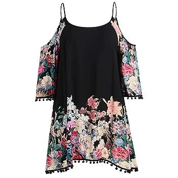 JPOQW-winter Women's Plus Size Dress Long Sleeve Strapless Cold Shoulder Flower Printed Loose Fat Dress