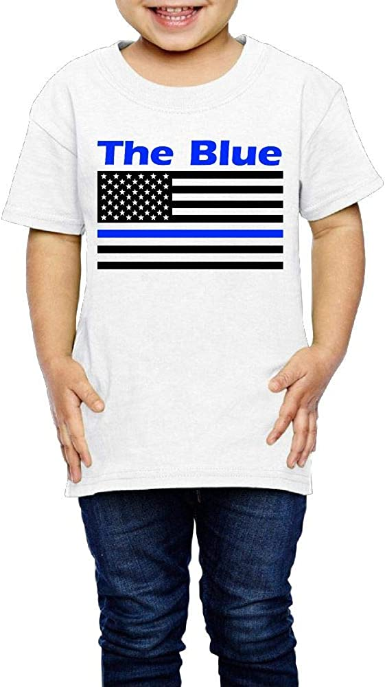 2-6 Years Old Kcloer24 The Blue American Flag Kids Baby Boy Organic T-Shirt Summer Clothes