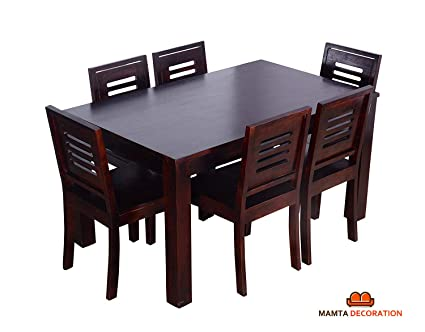 mamta decoration sheesham wood wooden dining table with 6 chairs rh amazon in kitchen table sets 6 chairs kitchen table and 6 chairs for sale