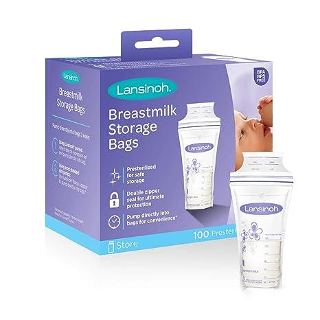 Lansinoh leche materna bolsas de almacenamiento, de 100 (2 ...