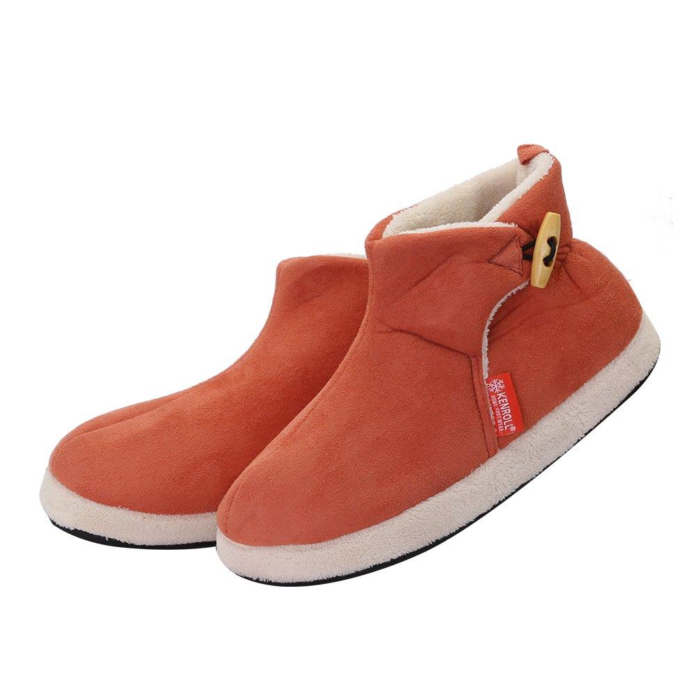 kenroll Zapatillas Botines de Gamuza Antideslizantes Botas Para La Nieve Invierno Interior Casa Calzado Para Mujer GwXji