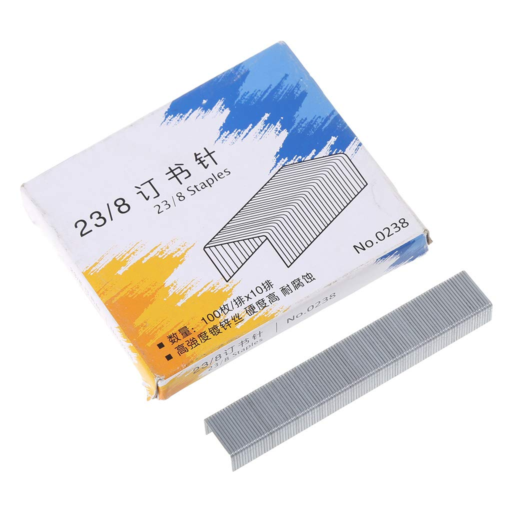 JUNESUN 1000Pcs / Box Heavy Duty 23/13 Graffette in Metallo per cucitrice Office School Supplies