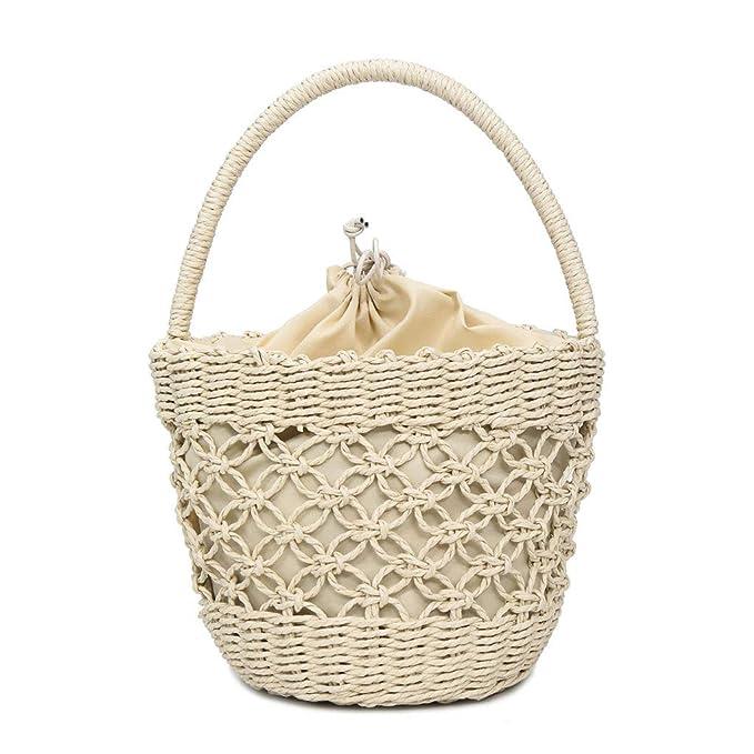 Amazon.com: ANJUNIE - Bolso de mujer con pajita cruzada de ...