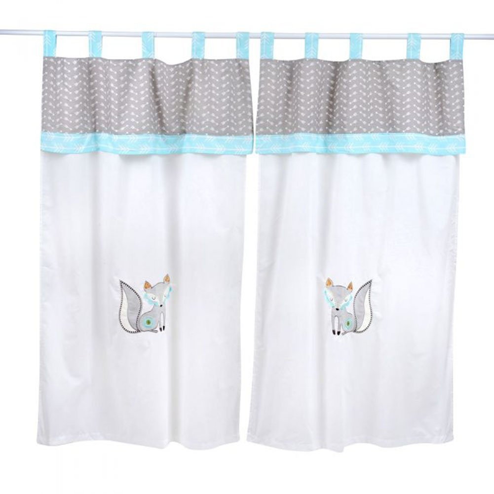 Dream Big Little One Blue Crib Bedding Accessory - Window Curtain