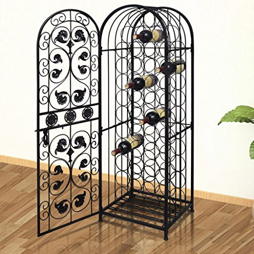 "Chloe Rossetti Wine Rack 45 Bottles Metal Wine Rack Wine Stand Total Size: 1 6"" x 1 2"" x 4 5"" (W x D x H)"