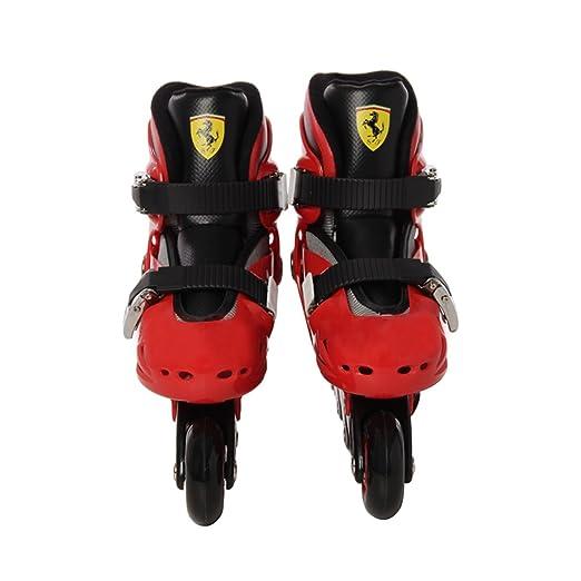 Ferrari FK7 - Patines en línea ajustables para niños , Talla:33-36, Rojo: Amazon.es: Deportes y aire libre