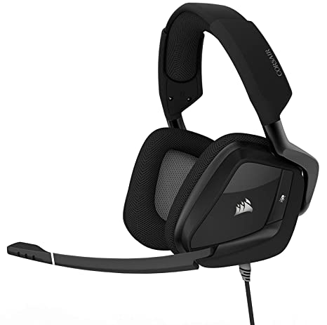CORSAIR VOID PRO RGB USB Gaming Headset - Dolby 7 1 Surround Sound  Headphones for PC - Discord Certified - 50mm Drivers - Carbon