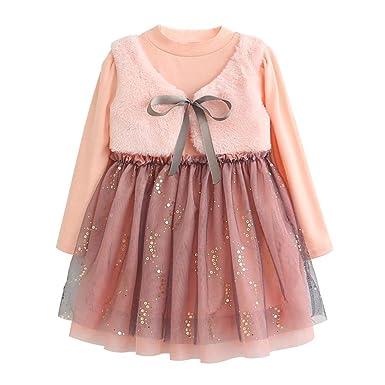 Xmiral Niñas-Bebés Vestido Princesa Manga Larga de Enacje Dress ...