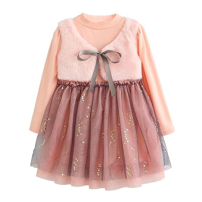 Xmiral Niñas-Bebés Vestido Princesa Manga Larga de Enacje ...