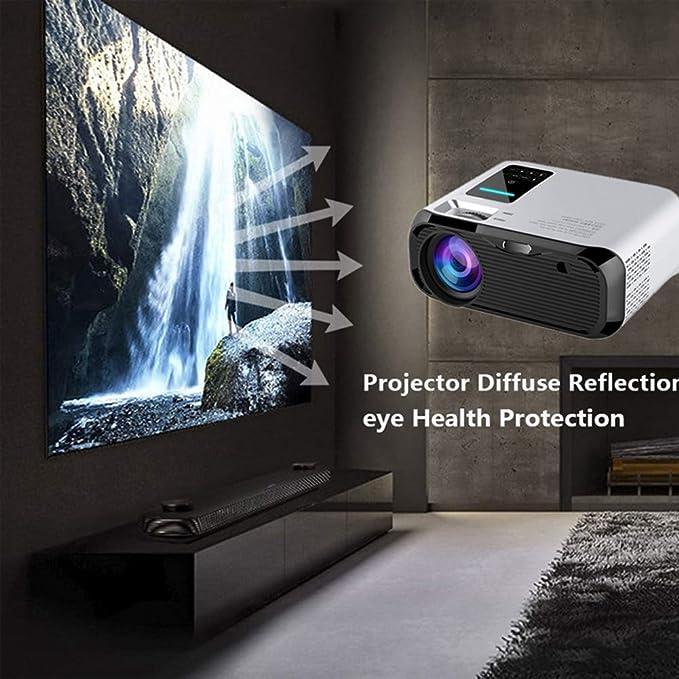 RR-YRR HD Mini proyector, portátil 1280 * 720 3000 lúmenes LED proyector de vídeo, HDMI Home Media Player Mejor Regalo: Amazon.es: Electrónica