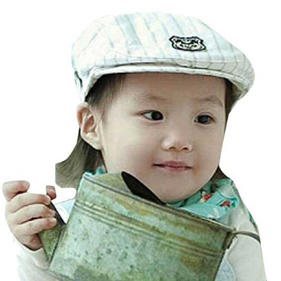 504dbcbe5a9 Malloom® Baby Stripe Hat Cap Kids Hats Photography Props Beret Cap (Black)   Amazon.co.uk  Baby