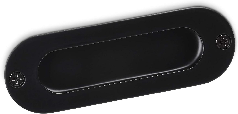 5 x SO-TECH® Tirador para Muebles EL-08 108mm Acero Negro mate/Puerta Corredera/Tirador empotrado: Amazon.es: Bricolaje y herramientas