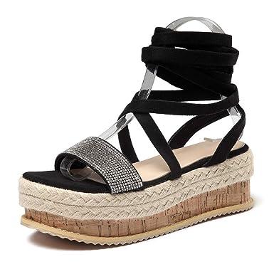 47a41211d {Minikoad} Women Flat Thick-Bottom Sandals,Ladies Roman Shoes Crystal Play  form