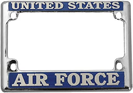Honor Country US Air Force Motorcycle License Plate Frame