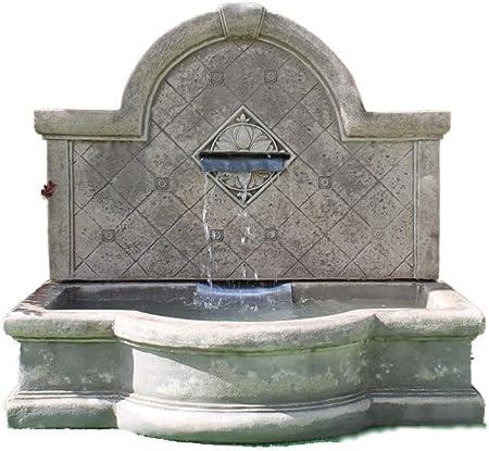 Piedra agua para jardín pluma estilográfica, pared grande fuente autónomo al aire libre (función de agua para jardín: Amazon.es: Jardín