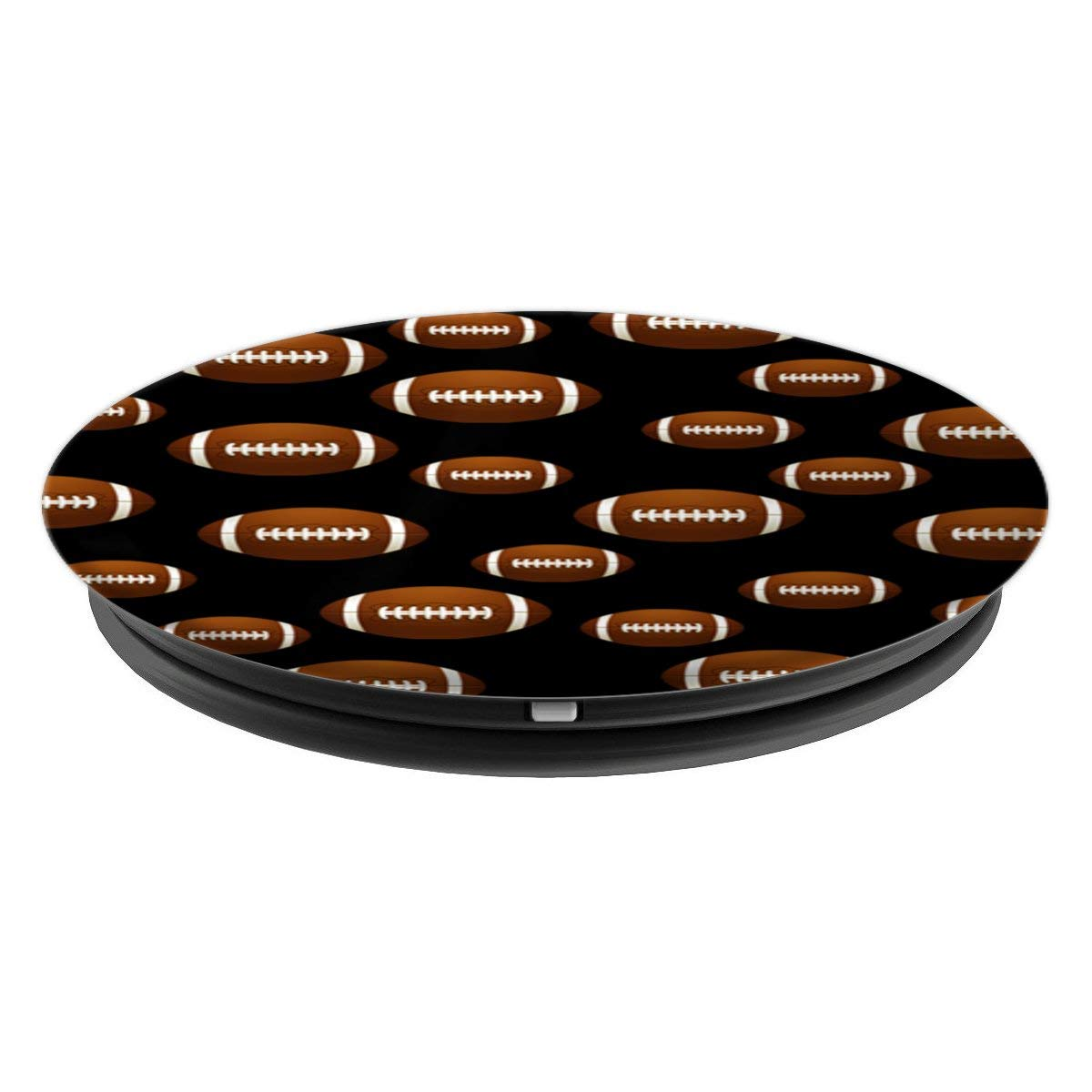 Amazon.com: Football American US Sport Fan Team Player Ball Black - PopSockets Grip and Stand for Phones and Tablets: Cell Phones & Accessories