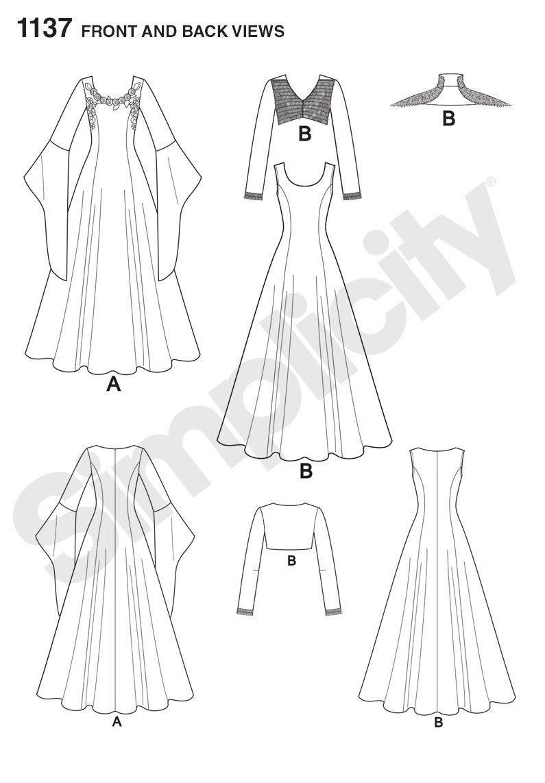 Simplicity 5794 A - Patrones de costura /(disfraces para mujer/) Navidad
