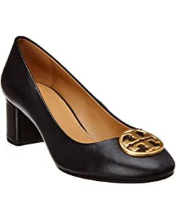 9ed36966df6 Tory Burch Women s Chelsea Pump Black Leather Décolleté