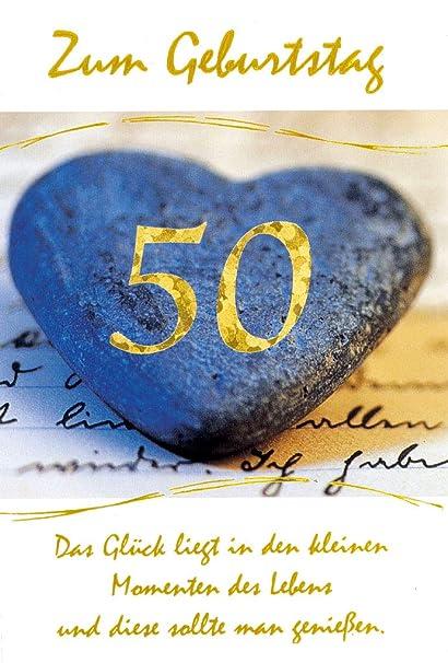 Tarjeta de felicitación de 50 cumpleaños con número, color ...