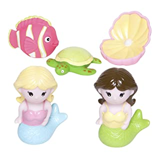 Best Elegant Baby Bath Time Fun Rubber Water Squirtie Toys, Flowers, Bees and Pink Squirt Toys