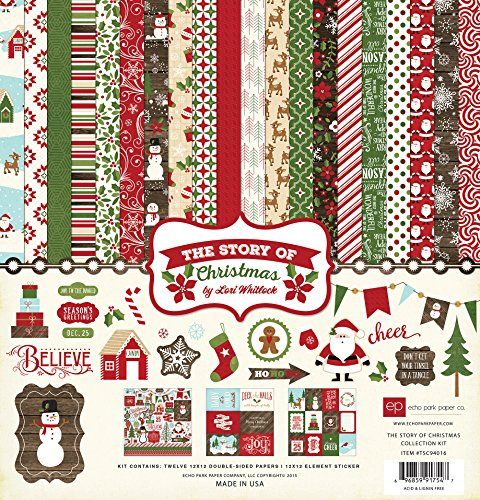 Echo Park Paper Company TSC94016  The Story of Christmas Collection Kit -