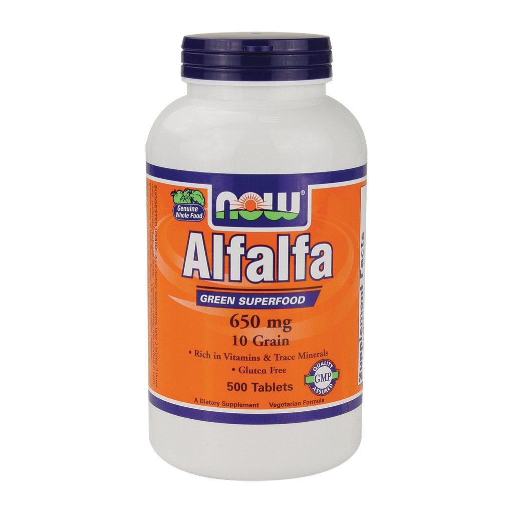 Now Foods Alfalfa 650 mg - 500 Tabs 6 Pack