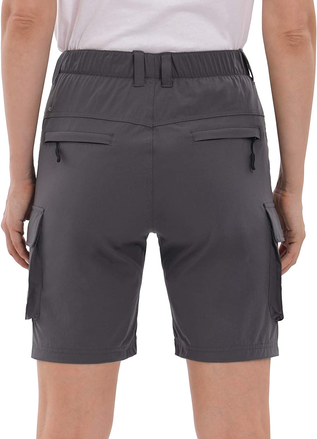 Loose-Fit Hiking Outdoor Shorts Graphite Grey XL UPSOWER Womens Hiking Cargo Shorts Quick Drying Lightweight Shorts with Pockets