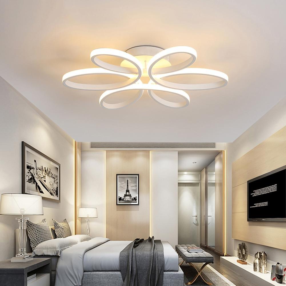 LED Lámparas de techo dormitorio de cama de matrimonio dormitorio de cama Romantica cálida Camera de bodas la niña moderna iluminación de salón ...