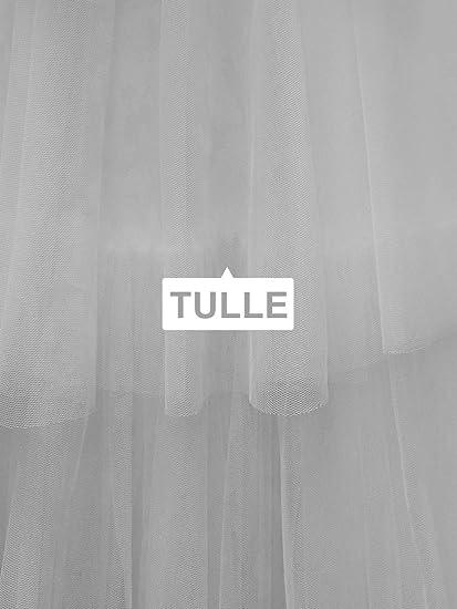 Ever-Pretty Robes de Mari/ée Longues Femme Soir/ée pour Mariage Tulle /à Volants 00869