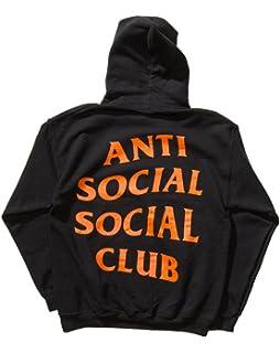 99a01b43ae00 Identity Anti Social Social Club Hoodie in Black Orange