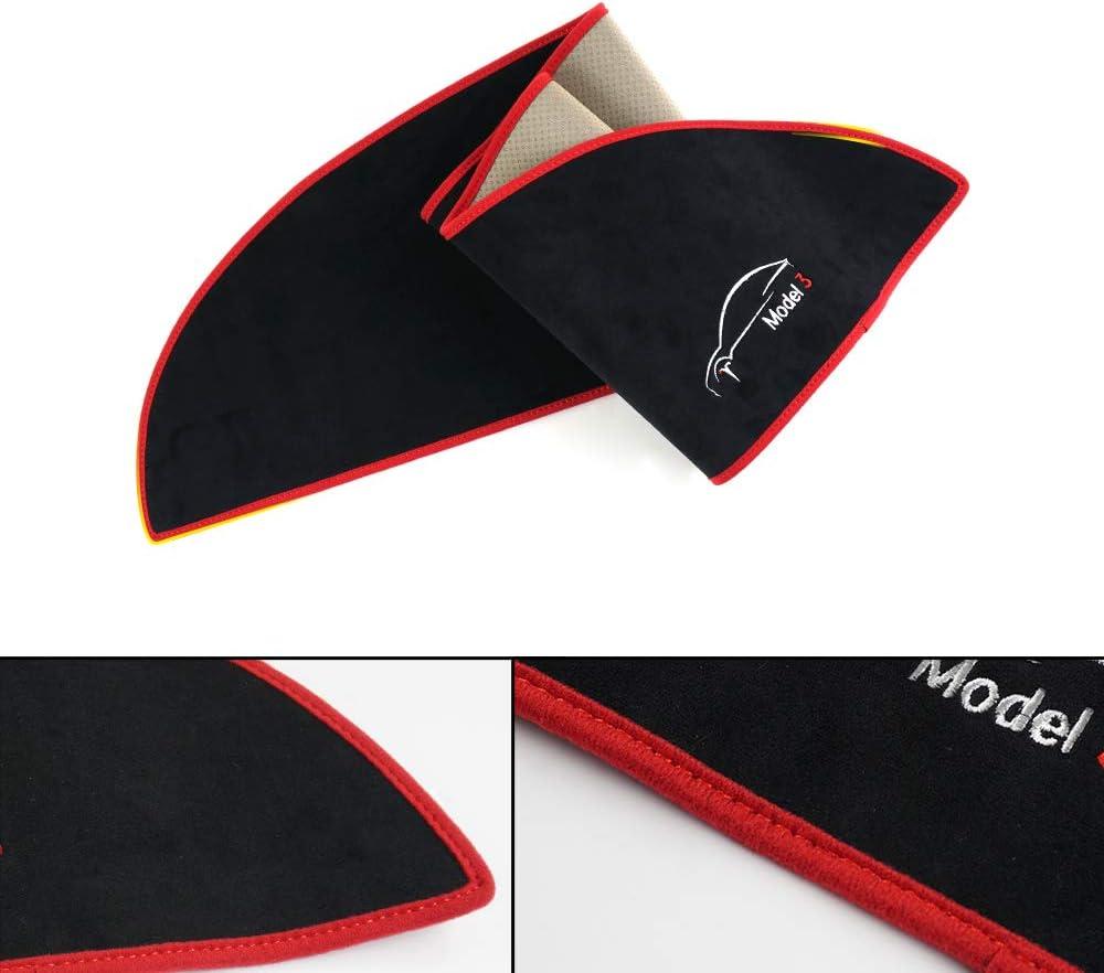 Black Mixsuper 2019 Updated Dashboard Mat Sun Cover Pad Dash Mat for Tesla Model 3