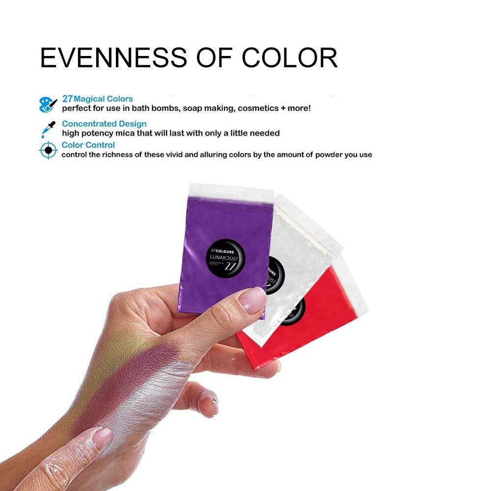 Eye Shadow,Lip Gloss Non Toxic Bath Bombs,Slime Newdiva Epoxy Resin Dye Mica Powder Set,27 Colours Resin Pigment Powder Acrylic Paint,Soap Making