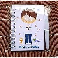 Regalos de Comunión. Libretas con mini bolígrafo Marinero Moreno para Comuniones. Bonitas y Originales para regalar a…