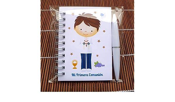 Regalos y detalles de Comunión niño marinero. Libretas con mini bolígrafo para comuniones Bonitas y Originales para regalar a los invitados.