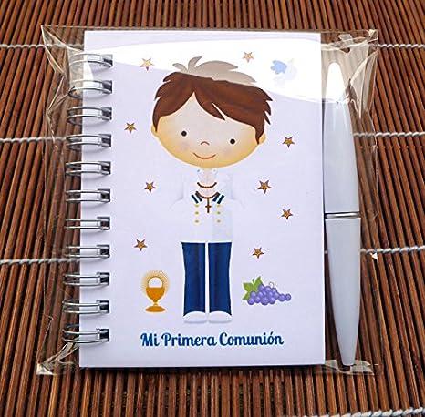 Regalos y detalles de Comunión niño marinero. Libretas con mini bolígrafo para comuniones Bonitas y