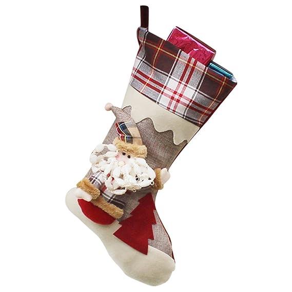 YiLianDa Calcetines De Navidad Muñeco De Nieve De Caramelo Calcetines Regalos De La Decoración Del Bolso Calcetines: Amazon.es: Ropa y accesorios