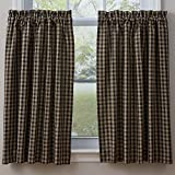 Town and Country Black 36 Inch Curtain Tiers