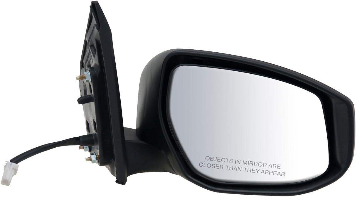 Fit System Passenger Side Mirror for Nissan Sentra Power Black PTM Cover Foldaway